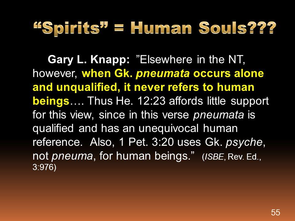 Spirits = Human Souls