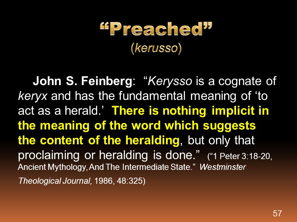 Preached (kerusso)