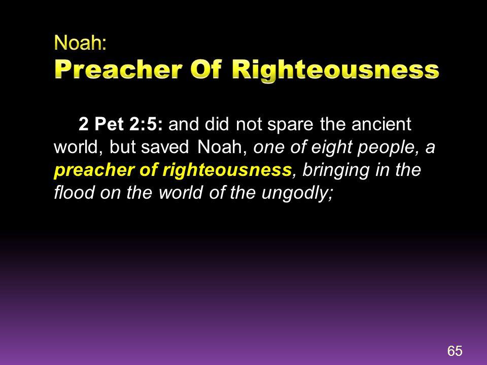Noah: Preacher Of Righteousness