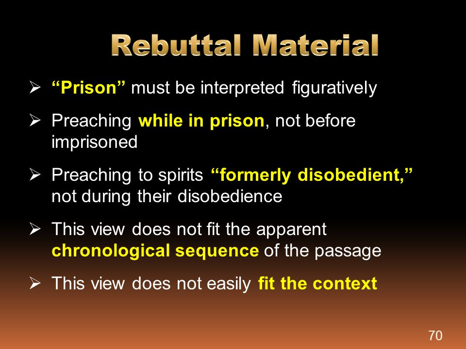 Rebuttal Material Prison must be interpreted figuratively