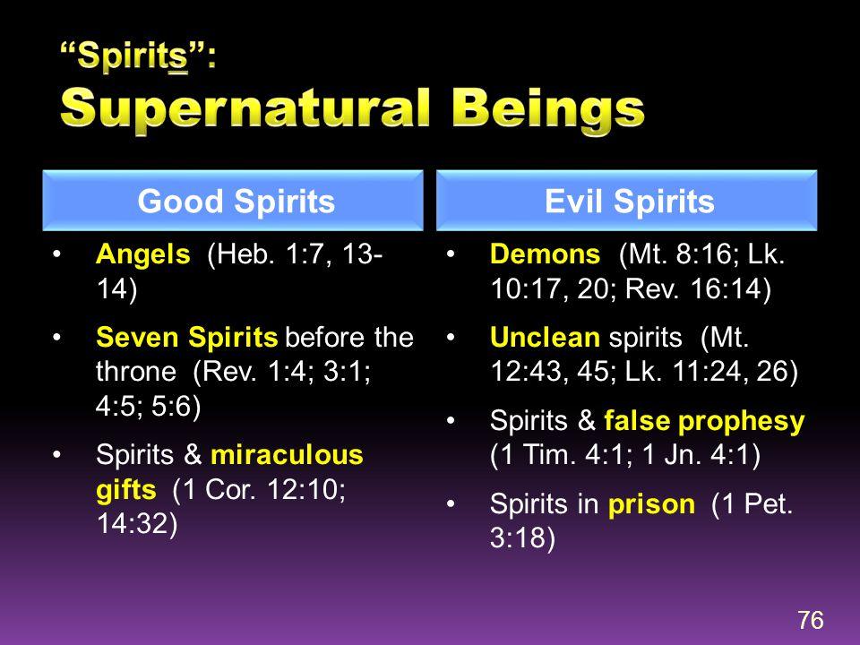 Spirits : Supernatural Beings