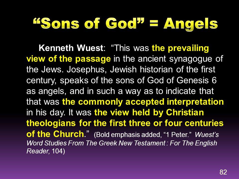 Sons of God = Angels