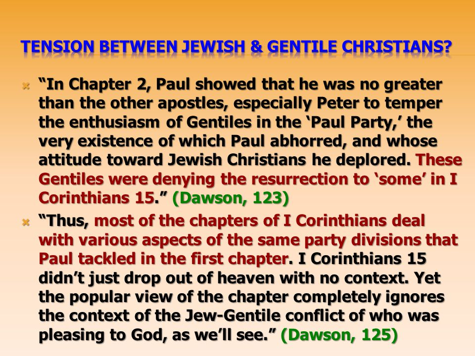 Tension Between Jewish & Gentile Christians