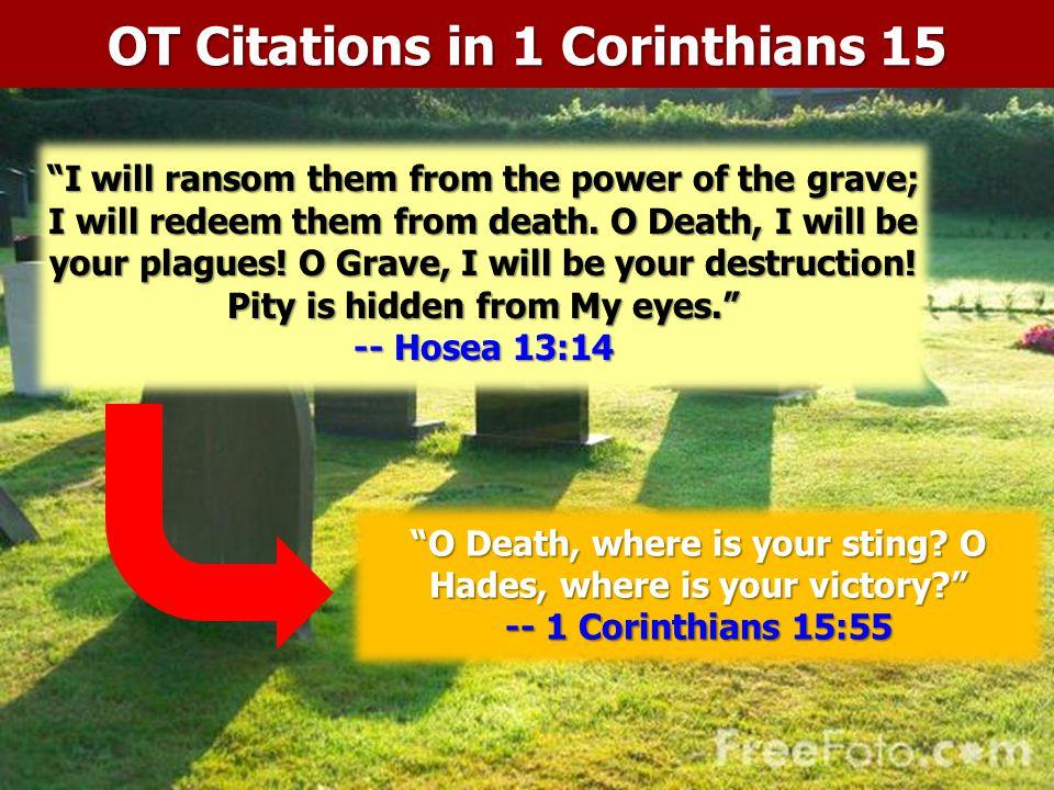 OT Citations in 1 Corinthians 15