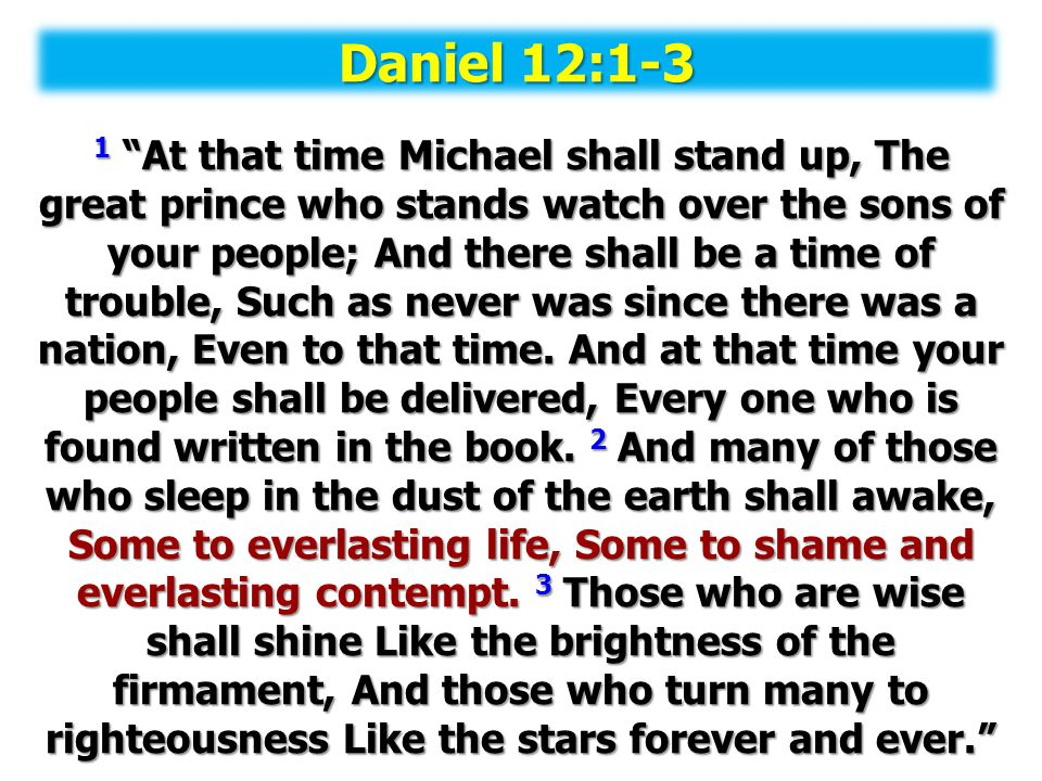 Daniel 12:1-3