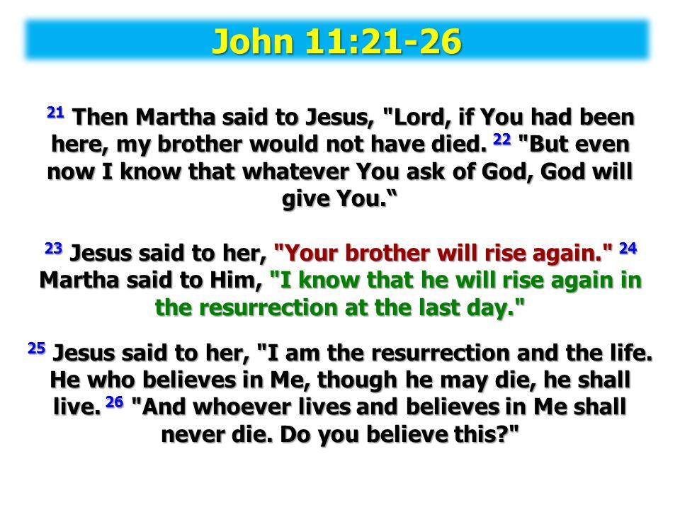 John 11:21-26
