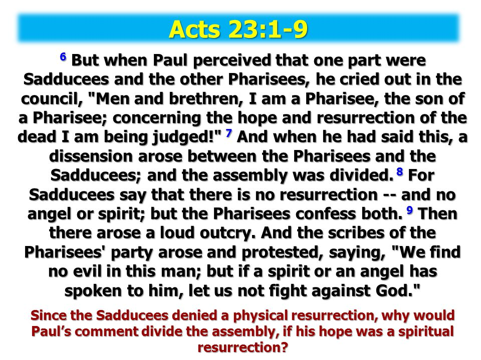 Acts 23:1-9