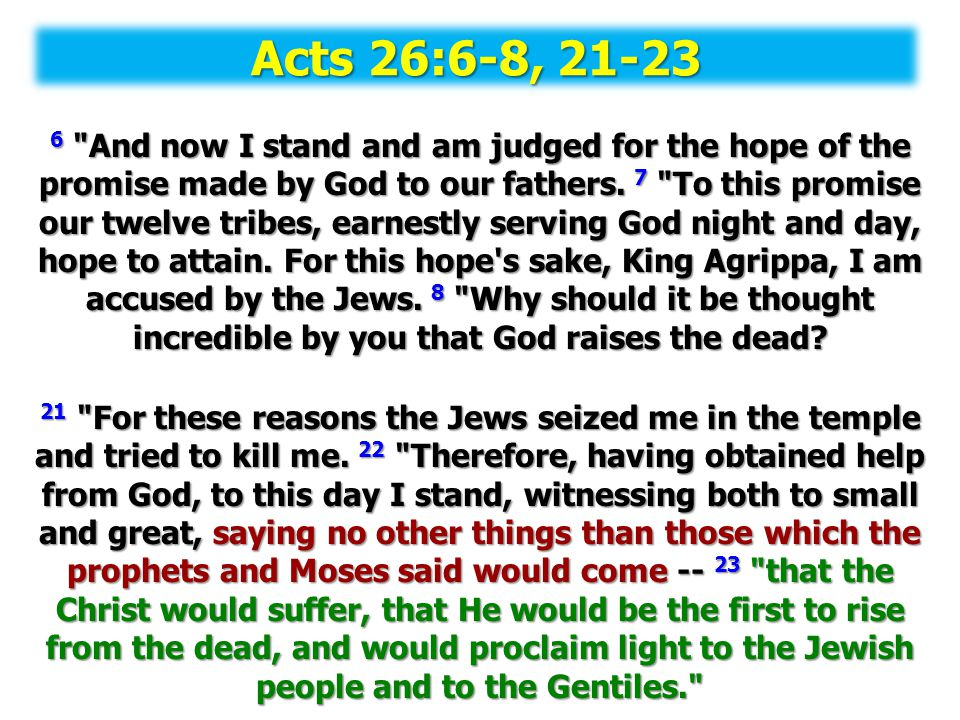 Acts 26:6-8, 21-23