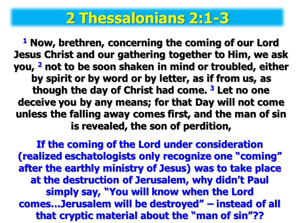 2 Thessalonians 2:1-3
