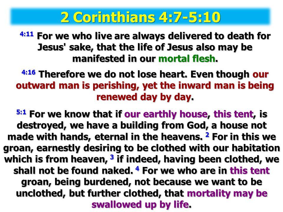 2 Corinthians 4:7-5:10