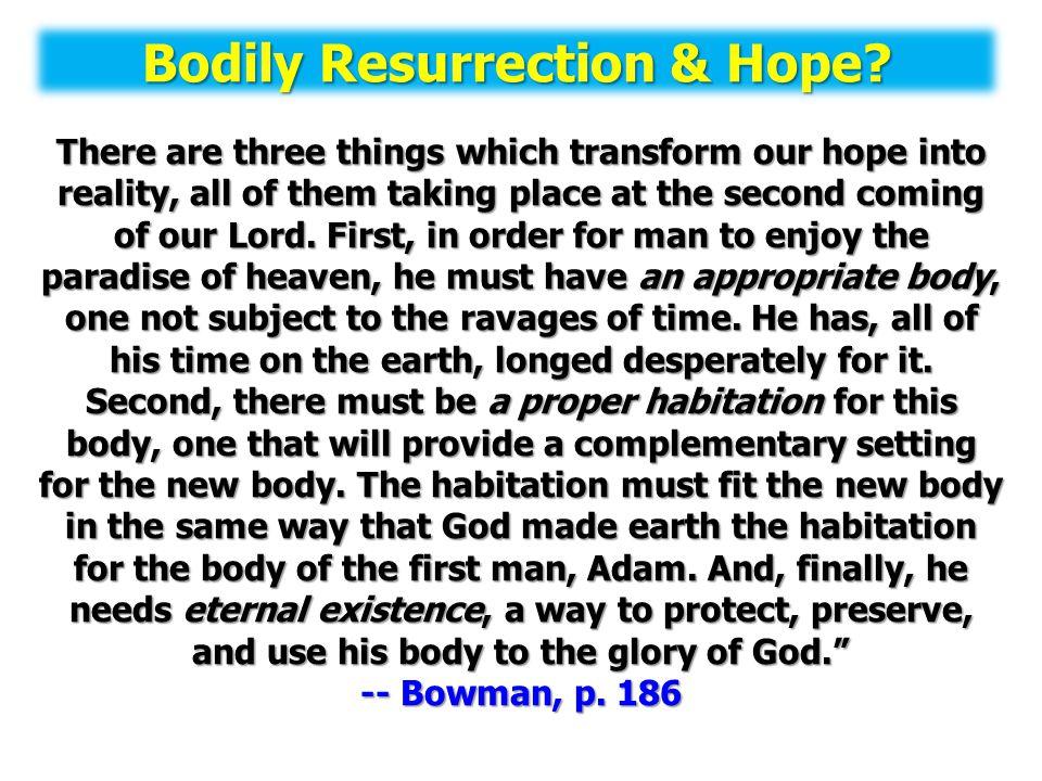 Bodily Resurrection & Hope