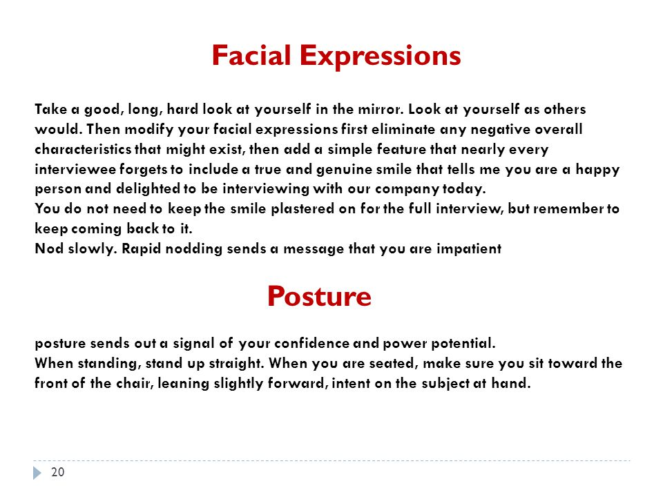 Facial Expressions Posture