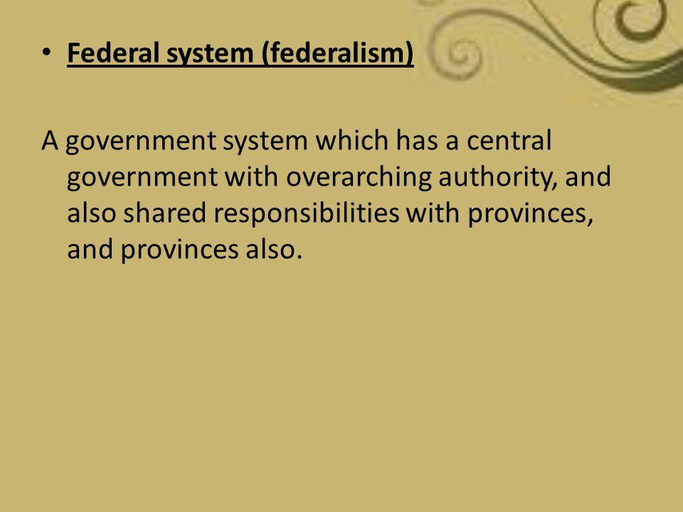 Federal system (federalism)