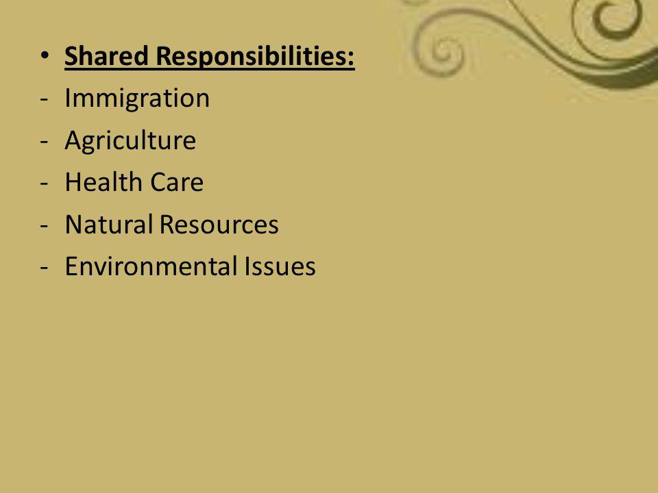 Shared Responsibilities: