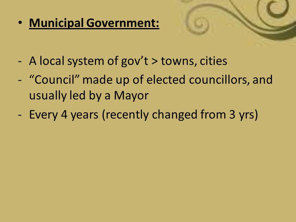 Municipal Government: