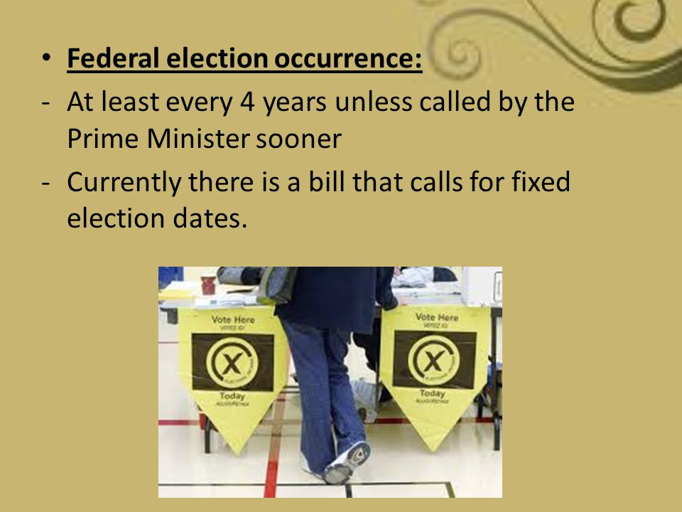 Federal election occurrence:
