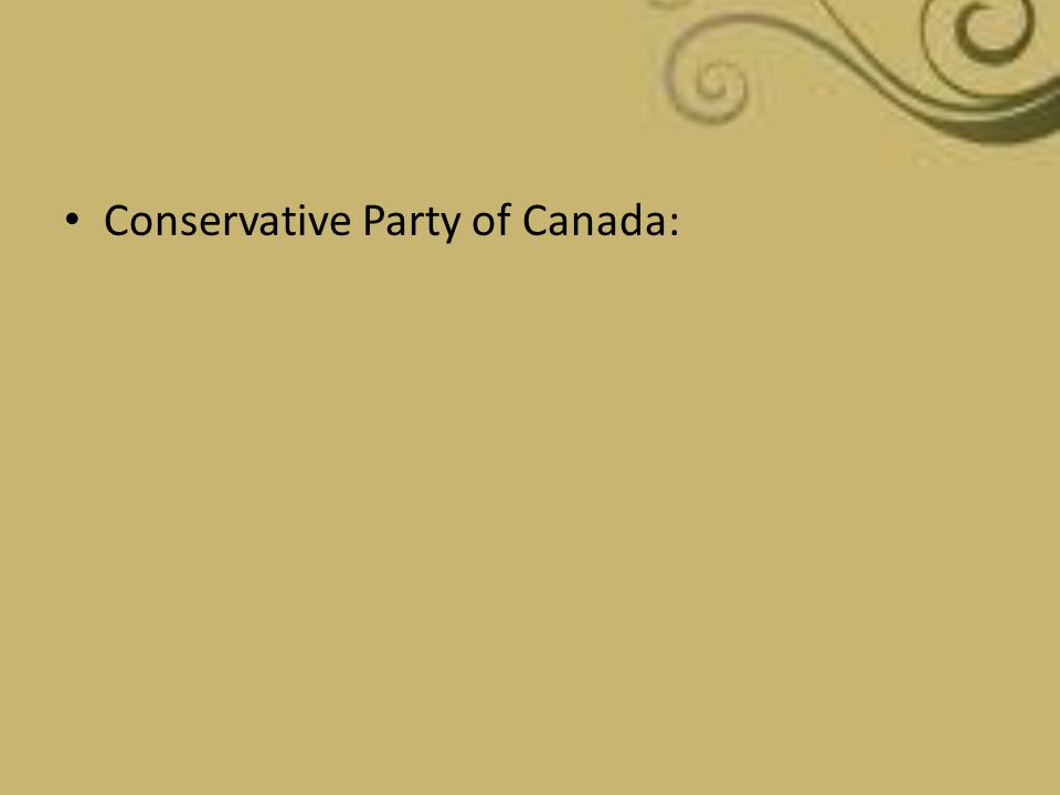 Conservative Party of Canada: