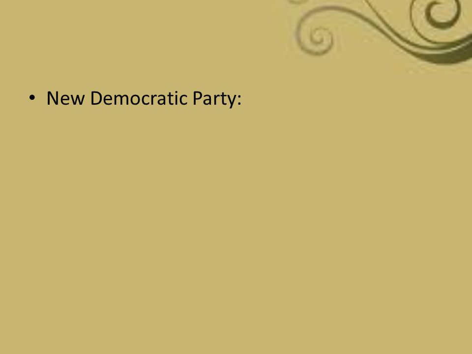 New Democratic Party: