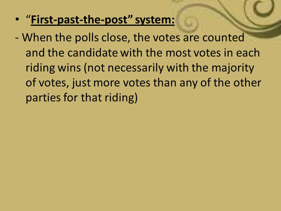 First-past-the-post system:
