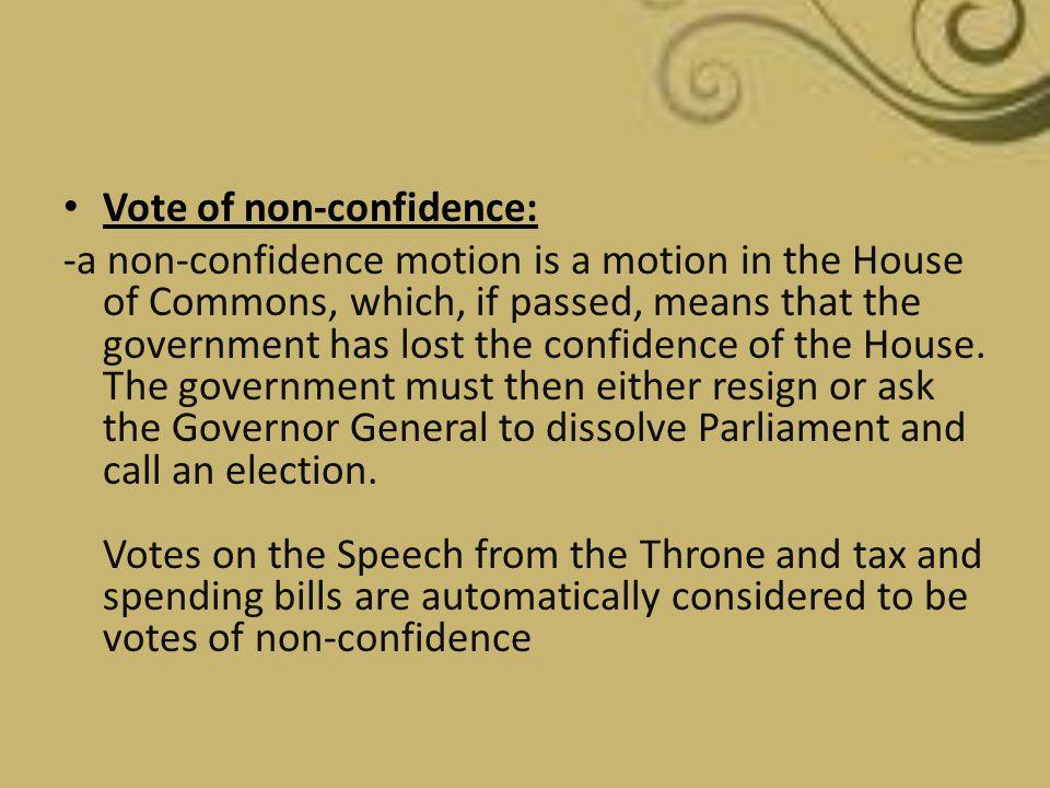 Vote of non-confidence: