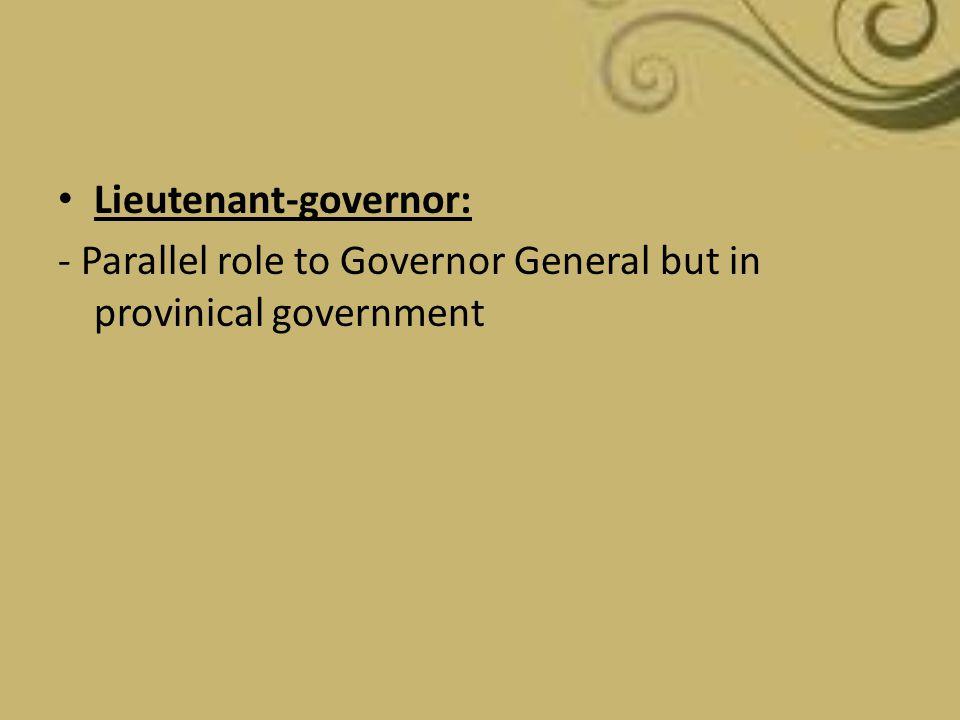 Lieutenant-governor: