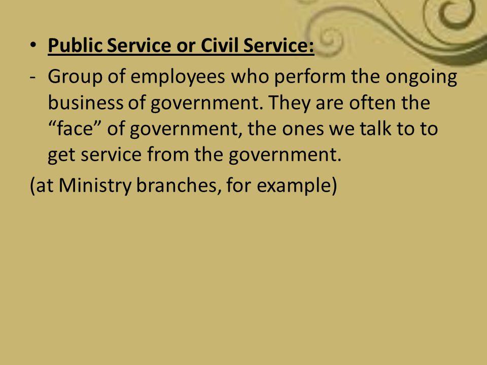 Public Service or Civil Service: