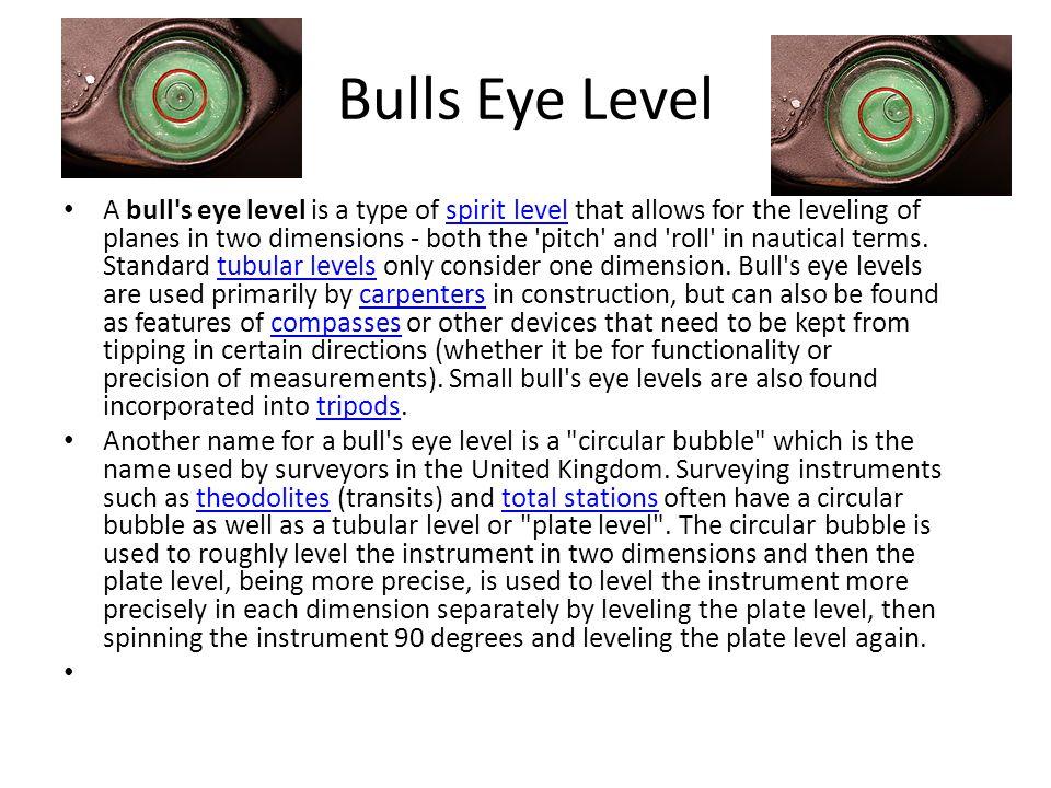 Bulls Eye Level
