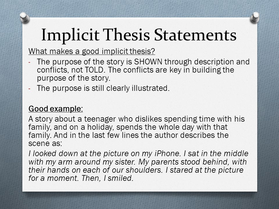 Implicit Thesis Statements