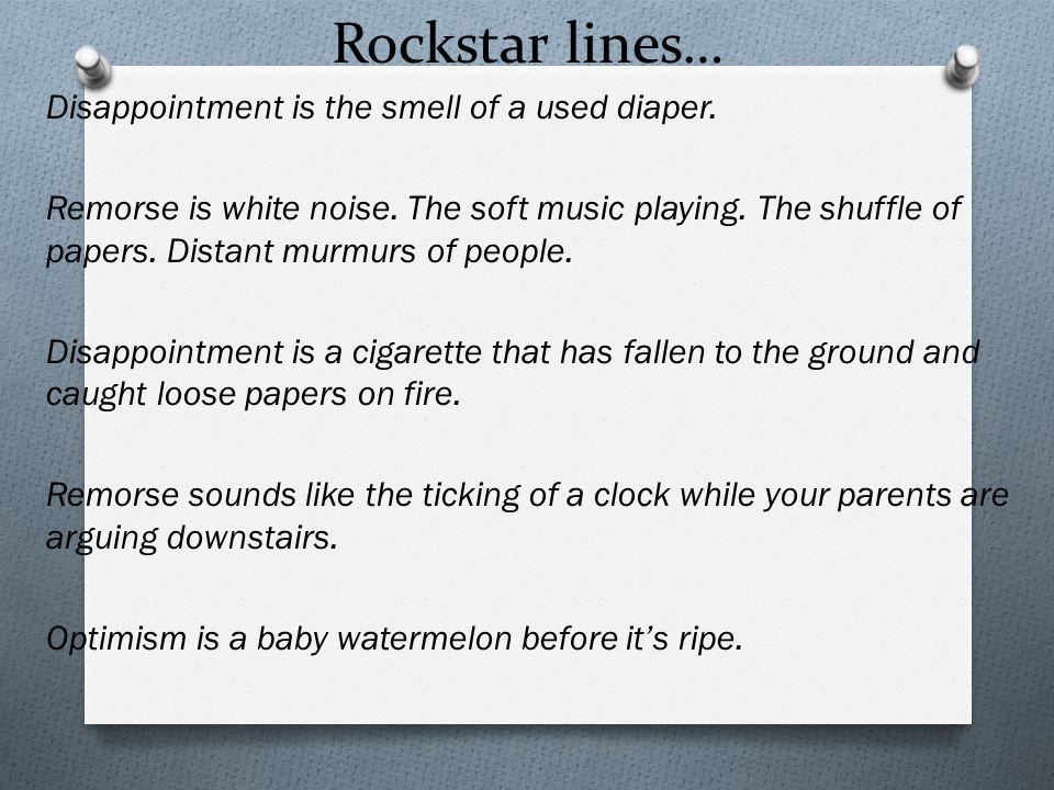 Rockstar lines…