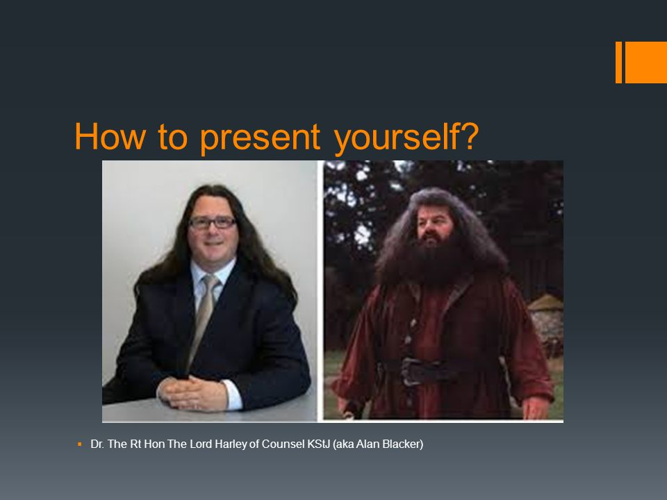 How to present yourself