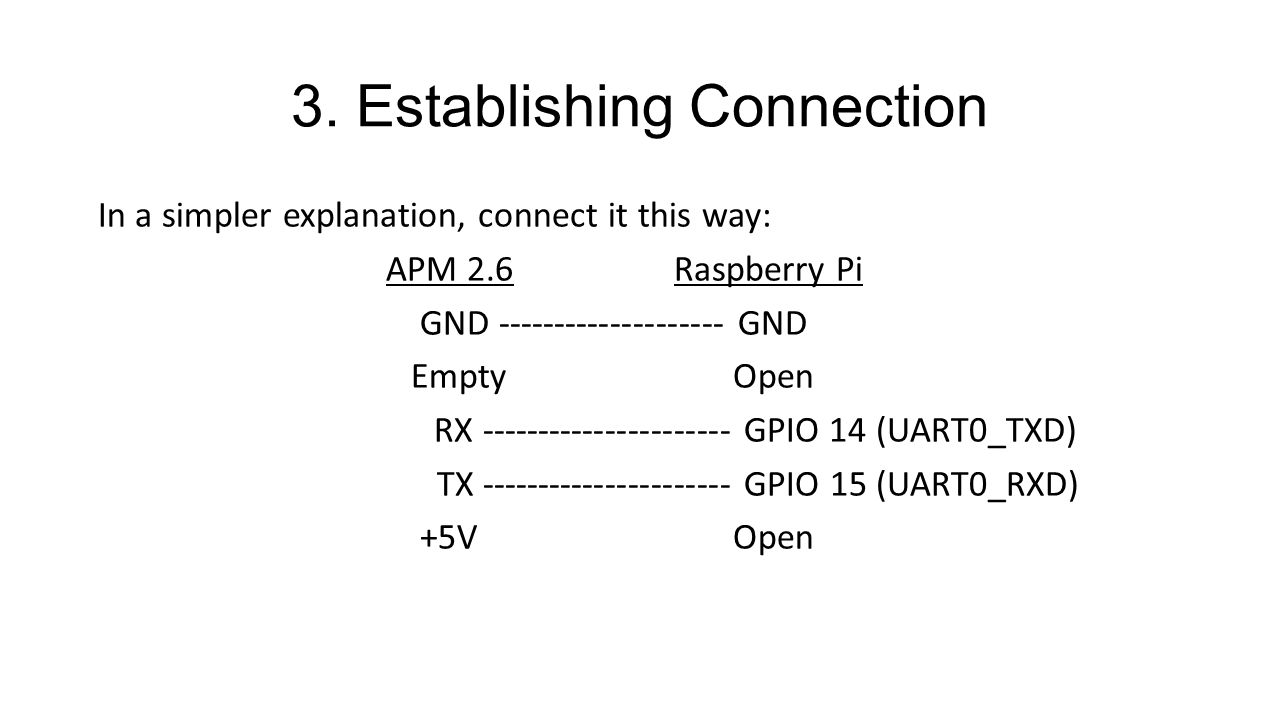3. Establishing Connection