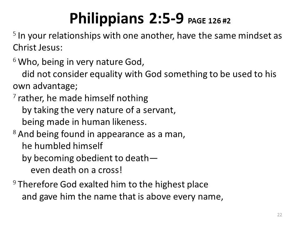 Philippians 2:5-9 PAGE 126 #2