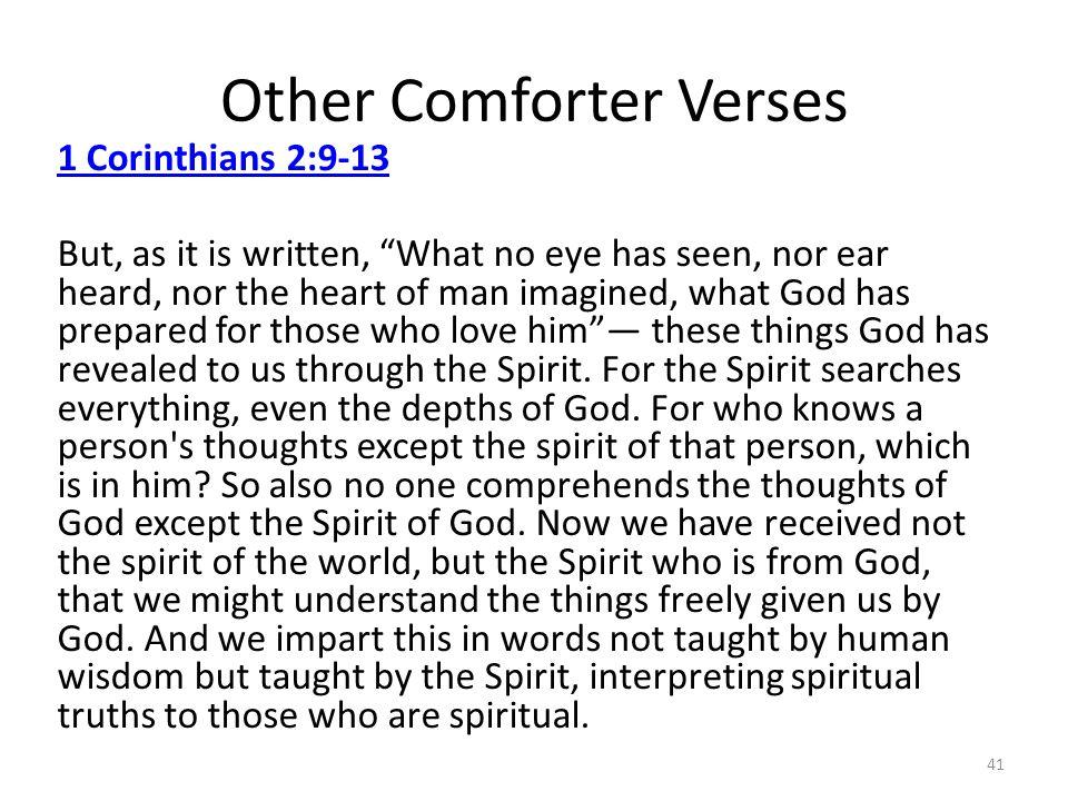 Other Comforter Verses