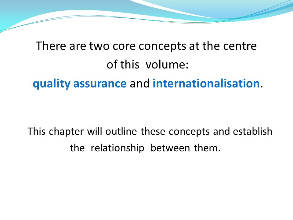 There are two core concepts at the centre of this volume: