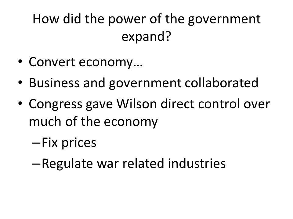 How did the power of the government expand
