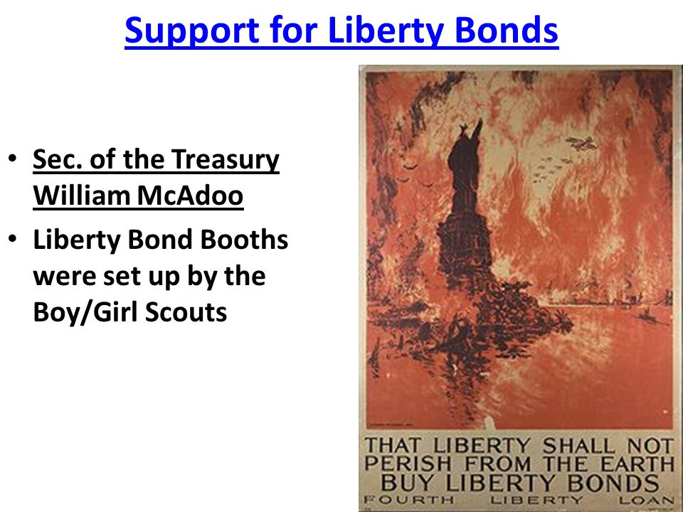 Support for Liberty Bonds
