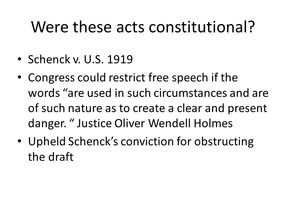 Were these acts constitutional