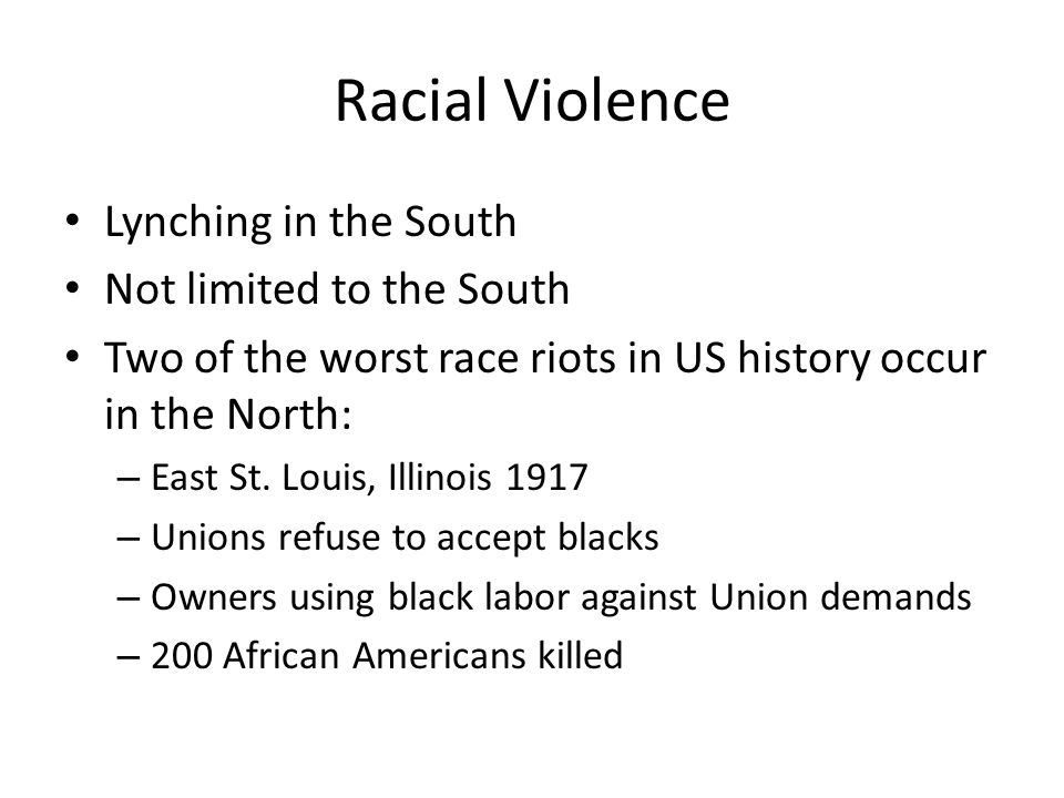 Racial Violence Lynching in the South Not limited to the South