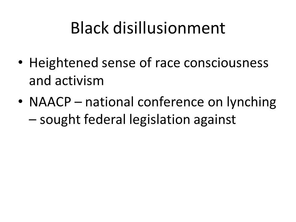 Black disillusionment