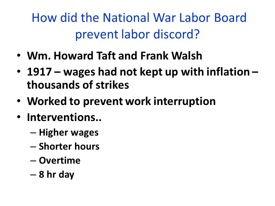How did the National War Labor Board prevent labor discord