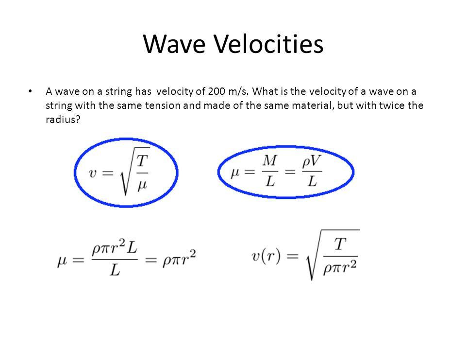 Wave Velocities