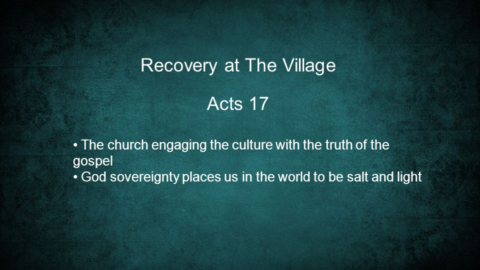 Recovery at The Village
