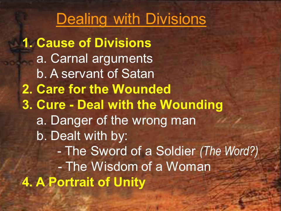 Dealing with Divisions