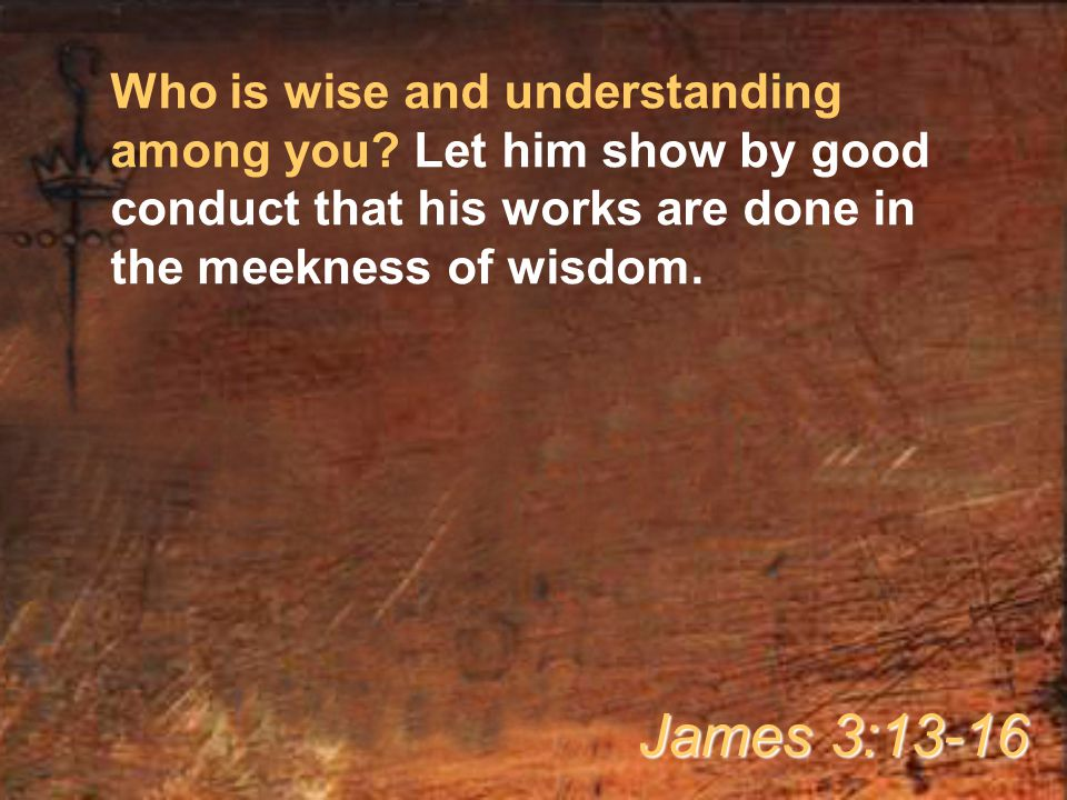 Who is wise and understanding among you