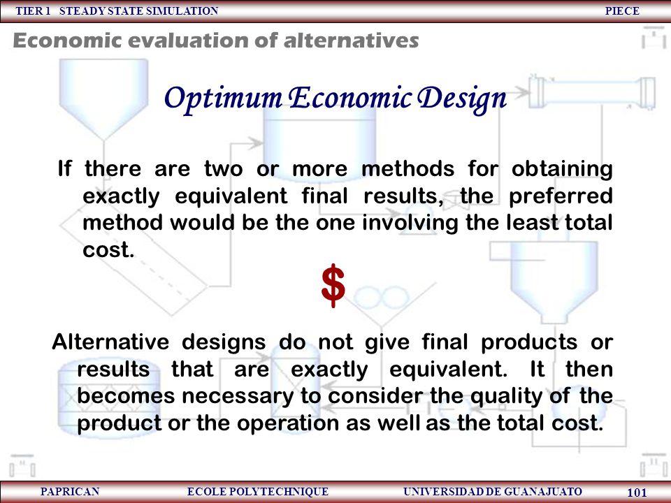 Optimum Economic Design