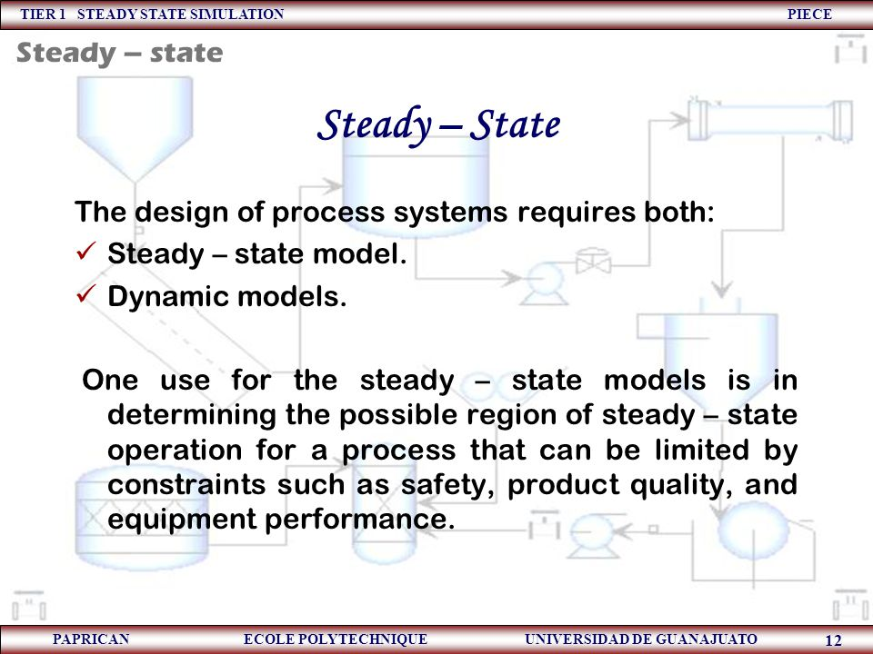Steady – State Steady – state