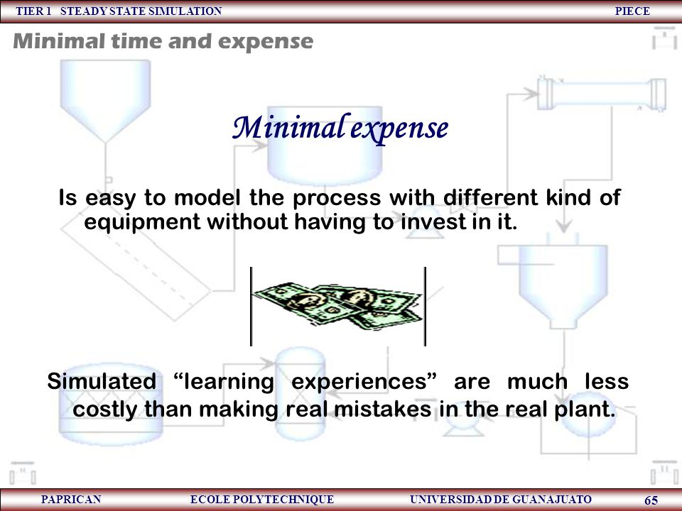 Minimal expense Minimal time and expense