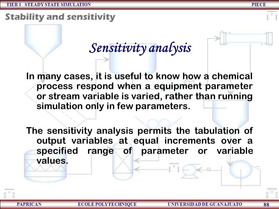 Sensitivity analysis Stability and sensitivity