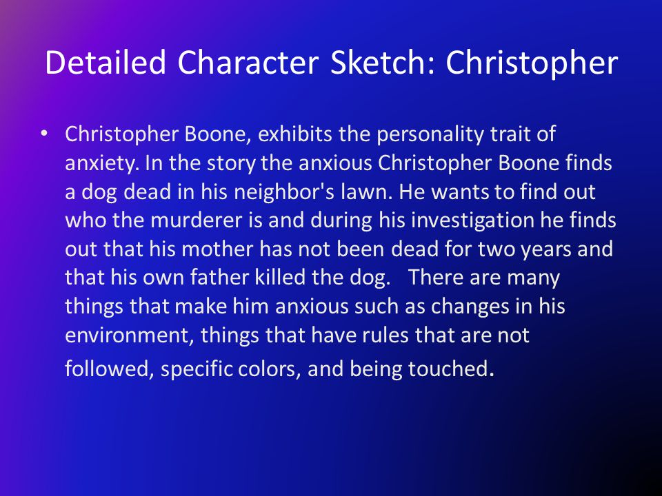 Detailed Character Sketch: Christopher