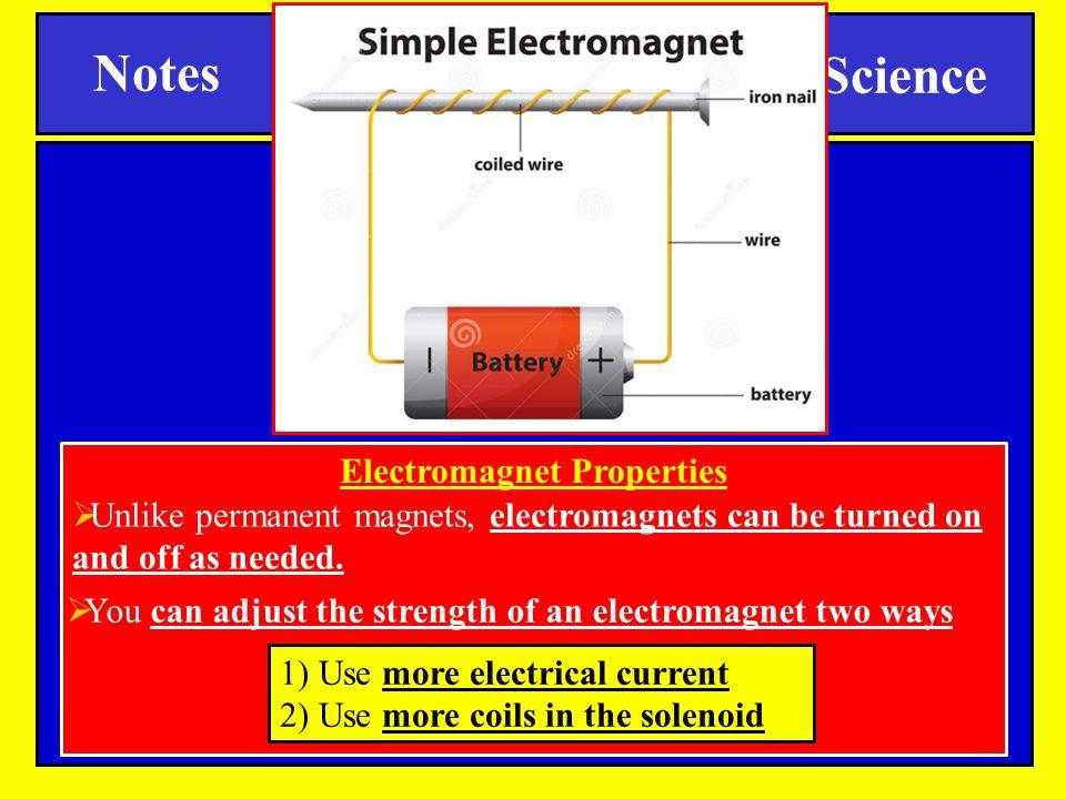 Electromagnet Properties